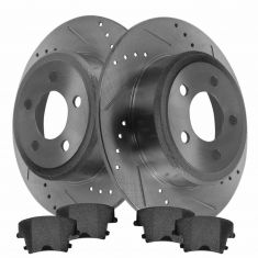 Rear Performance Rotor & Posi Metallic Pad Kit 05-12 300, Charger