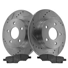 Rear Performance Rotor & Posi Metallic Pad Kit 04-12 Gm FWD