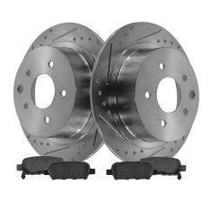 Rear Performance Rotor & Posi Ceramic Pad Kit 07-12 Nissan Altima