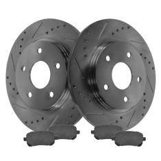 Rear Performance Rotor & Posi Ceramic Pad Kit 08-12 Caravan, 09-13 Journey