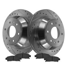 Rear Performance Rotor & Posi Ceramic Pad Kit 02-05 Trailblazer, Envoy, Rainier