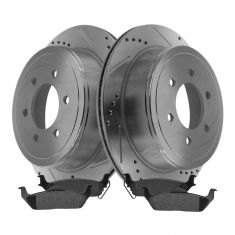 Rear Performance Rotor & Posi Metallic Pad Kit 04-08 Ford F150