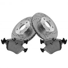 Front Performance Rotor & Posi Metallic Pad Kit 96-98 Skylark, Grand Am