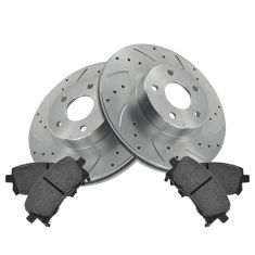 Front Performance Rotor & Posi Metallic Pad Kit 98-02 Forester; 98-01 Impreza
