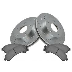 Front Performance Rotor & Posi Ceramic Pad Kit 97-05 S10, Blazer, Jimmy 4wd