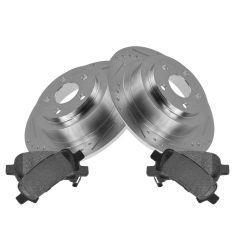 Rear Performance Rotor & Posi Metallic Pad Kit 00-04 Legacy; 03-06 Baja