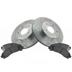 Front Performance Rotor & Posi Metallic Pad Kit 05-06 Equinox; 02-07 Vue