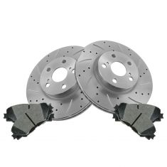 Front Performance Rotor & Posi Metallic Pad Kit 09-12 Corolla Matrix; 08-12 Scio