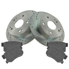 Rear Performance Brake Rotor & Posi Semi-Metallic Pads Acura Integra Type R