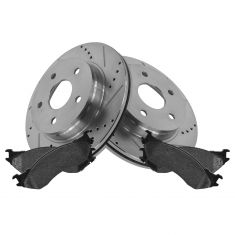 Front Performance Disc Brake Rotor & Posi Semi-Metallic Pads 03-08 Ram 1500