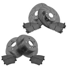Front & Rear Performance Rotor & Posi Ceramic Pad Kit 07-11 Camry; 07-13 Lexus