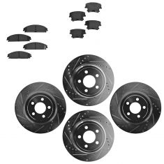 Front & Rear Performance Rotor & Posi Ceramic Pad Kit 05-12 Charger Challenger