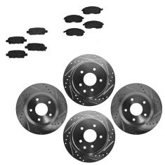 Front & Rear Performance Rotor & Posi Ceramic Pad Kit 07-12 Nissan Altima