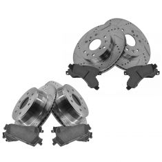Front & Rear Performance Rotor & Posi Ceramic Pad Kit 07 Chevy Truck/SUV