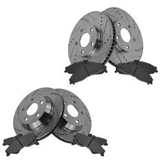 Front & Rear Performance Rotor & Posi Ceramic Pad Kit 98-02 Camaro, Firebird