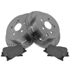 Rear Performance Rotor & Posi Metallic Pad Kit 01-00 ES300; 05-10 tC; 00-01 Camry