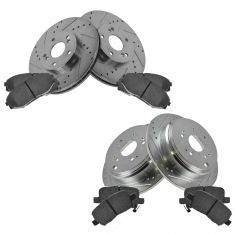 Front & Rear Performance Rotor & Posi Ceramic Pad Kit 02-04 Odyssey