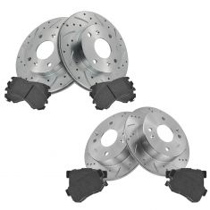 Front & Rear Performance Rotor & Posi Ceramic Pad Kit 98-02 Accord; 98-99 CL