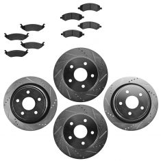 Front & Rear Performance Rotor & Posi Metallic Pad Kit 02-05 Ram 1500