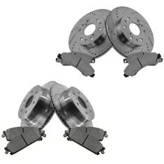 Front & Rear Performance Rotor & Posi Metallic Pad Kit 07 Chevy Truck/SUV