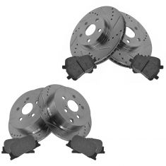 Front & Rear Performance Rotor & Posi Metallic Pad Kit 05-10 tC