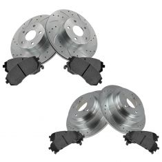 Front & Rear Performance Rotor & Posi Metallic Pad Kit 05-06 9-2X; 04-07 Impreza