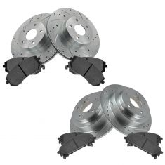 Front & Rear Performance Rotor & Posi Ceramic Pad Kit 05-06 9-2X; 04-07 Impreza
