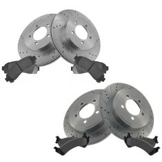 Front & Rear Performance Rotor & Posi Metallic Pad Kit 02-05Explorer Mountaineer