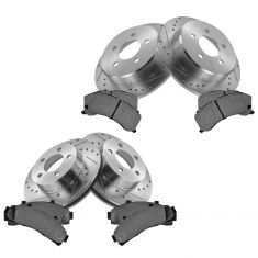 Front & Rear Performance Rotor & Posi Metallic Pad Kit 95-01Explorer 98-03Ranger