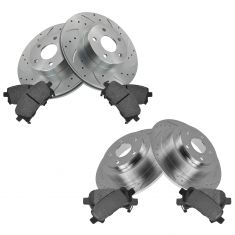 Front & Rear Performance Rotor & Posi Metallic Pad Kit 00-02 Legacy 00 Outback