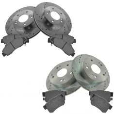 Front & Rear Performance Rotor & Posi Metallic Pad Kit 97-01 Integra Type R