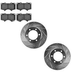 Front Performance Rotor & Ceramic Pad Kit 03-07 Sequoia; 00-06 Tundra
