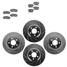 Front & Rear Performance Rotor & Metallic Pad Kit 05-10 300 09-13Challenger