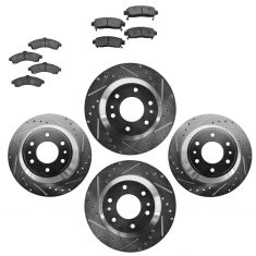 Front & Rear Performance Rotor & Ceramic Pad Kit 02-05 Trailblazer, Envoy
