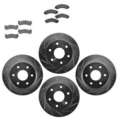 Front & Rear Performance Rotor & Ceramic Pad Kit 99-06 Chevy Truck/SUV