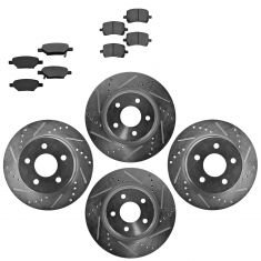 Front & Rear Performance Rotor & Metallic Pad Kit 08-11 Malibu; 08-10 G5; 07-09