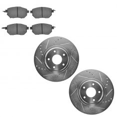05-08 Maxima; 05-07 Murano Front Performance Brake Rotor & Ceramic Pad Kit