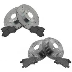 02-06 Nissan Altima Front & Rear Performance Rotor & Ceramic Pad Kit