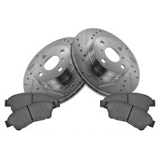 93-97 Corolla, Prizm Front Performance Brake Rotor & Ceramic Pad Set