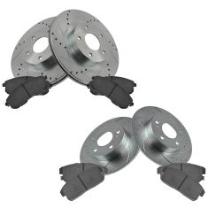02-04 Maxima, I35 Front & Rear Performance Rotor & Ceramic Pad Set