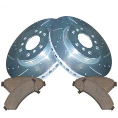 06-09 Uplander, Montana Front Performance Rotor & Ceramic Brake Pad Set