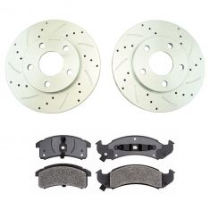 94-97 Lesabre, 94-96 Park Av Front Performance Brake Rotor & Metallic Pad Set
