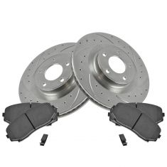 07-11 Edge, MKX Front Performance Brake Rotor & Ceramic Pad Set