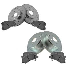 03-08 Pilot Front & Rear Performance Brake Rotor & Ceramic Pad Set