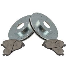 01-05 Seabring, Stratus Front Performance Brake Rotor & Ceramic Brake Set
