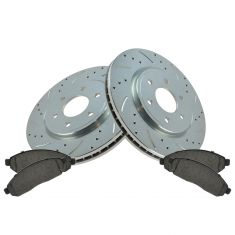 05-11 Frontier, Pathfinder, Xterra Front Performance Brake Rotor & Ceramic Pad Set