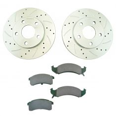 94-97 Lesabre, Park Ave, Riviera Front Performance Brake Rotor & Ceramic Pad Set
