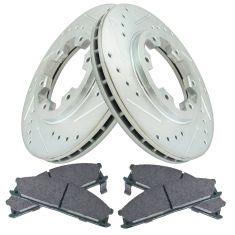 98-02 Frontier; 90-95 Pathfinder Front Performance Brake Rotor & Ceramic Pad Set