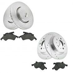 01-09 S60; 99-06 S80; 01-07 V70 Front & Rear Performance Brake Rotor & Ceramic Pad Kit