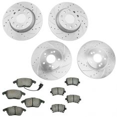 06-08 A3; 05-08 Jetta Front & Rear Performance & Metallic Pad Kit